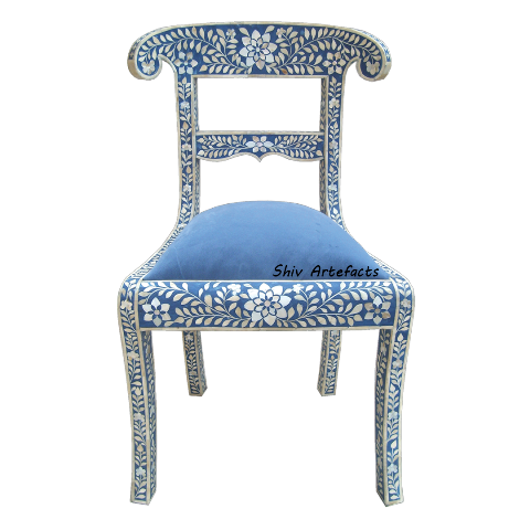 MOP INLAY FLORAL DESIGN CHAIR