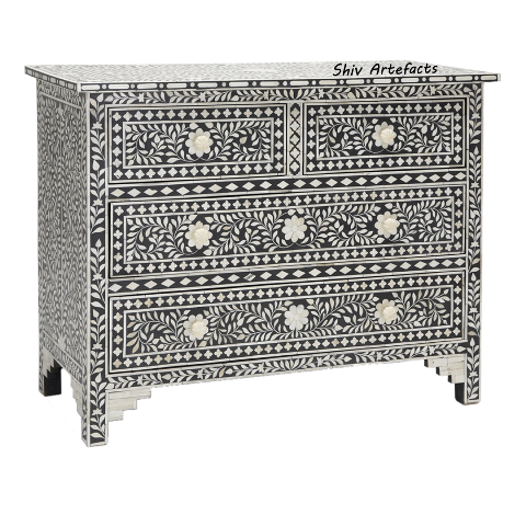 BONE INLAY FLORAL DESIGN CHEST