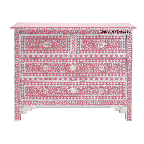 MOP INLAY FLORAL DESIGN CHEST