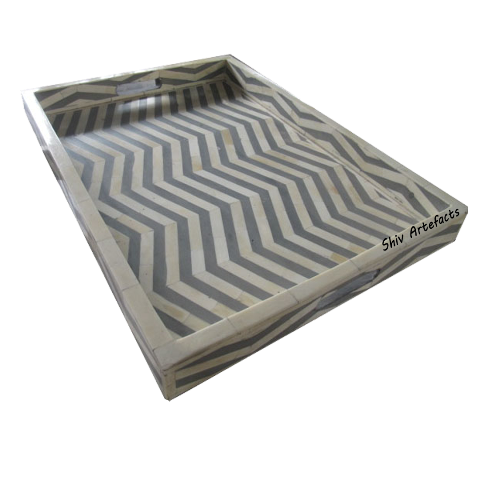 BONE INLAY CHEVRON DESIGN TRAY