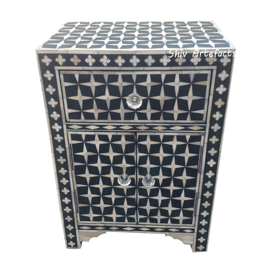 BONE INLAY STAR DESIGN BEDSIDE
