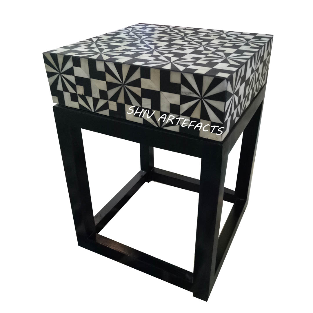 BONE INALY GEOMETRICAL SIDE TABLE