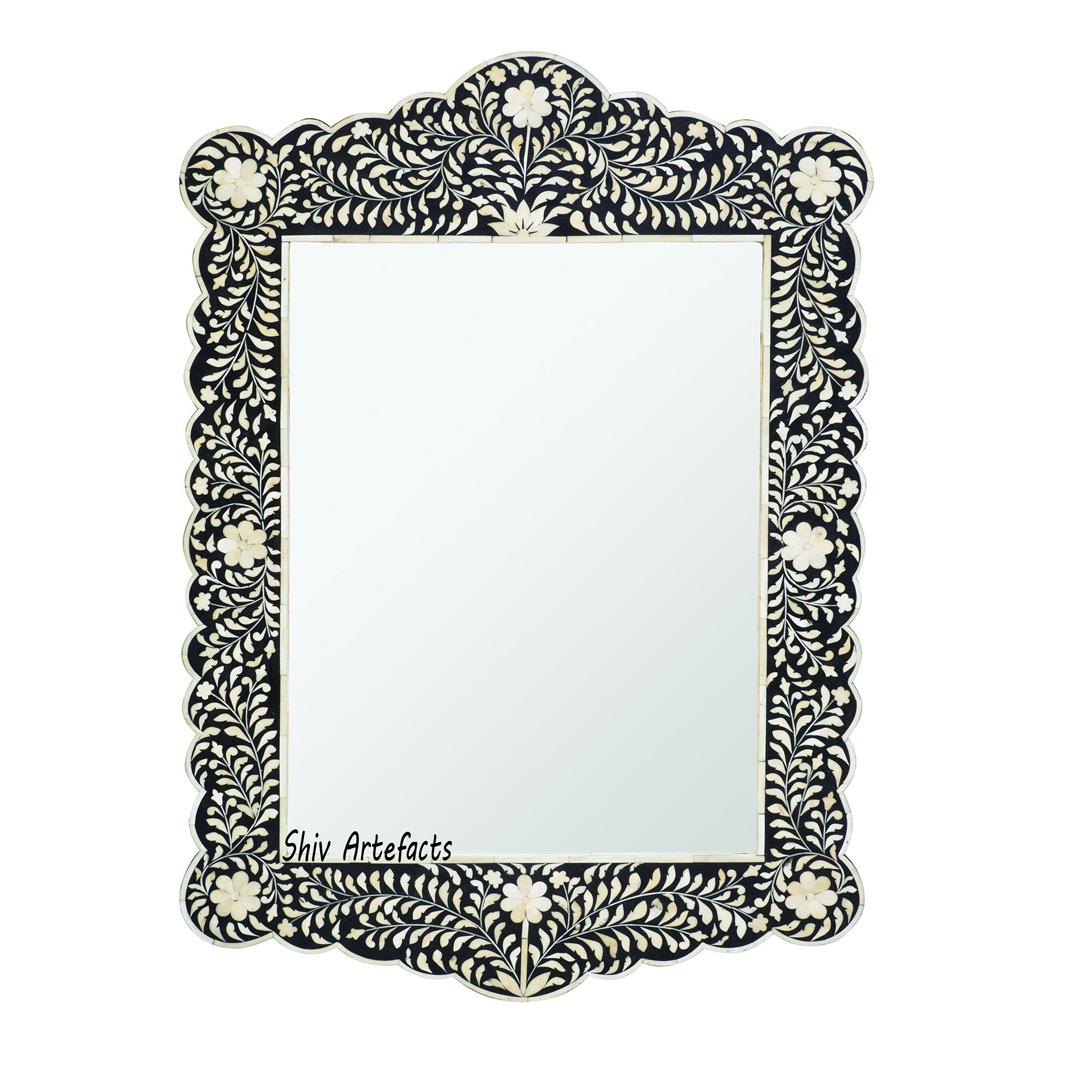 BONE INLAY ARCH MIRROR
