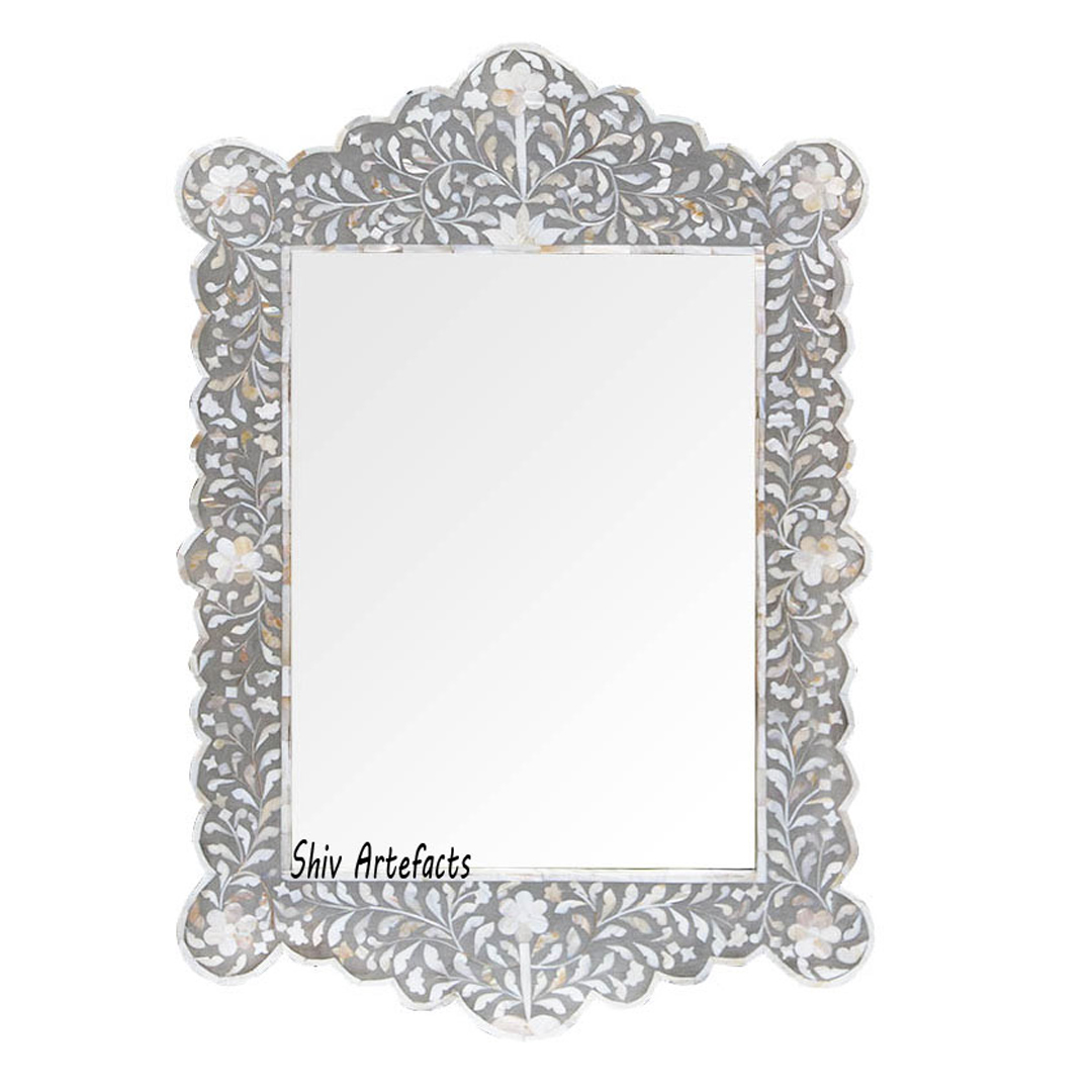 MOTHER OF PEARL INLAY ARCH MIRROR