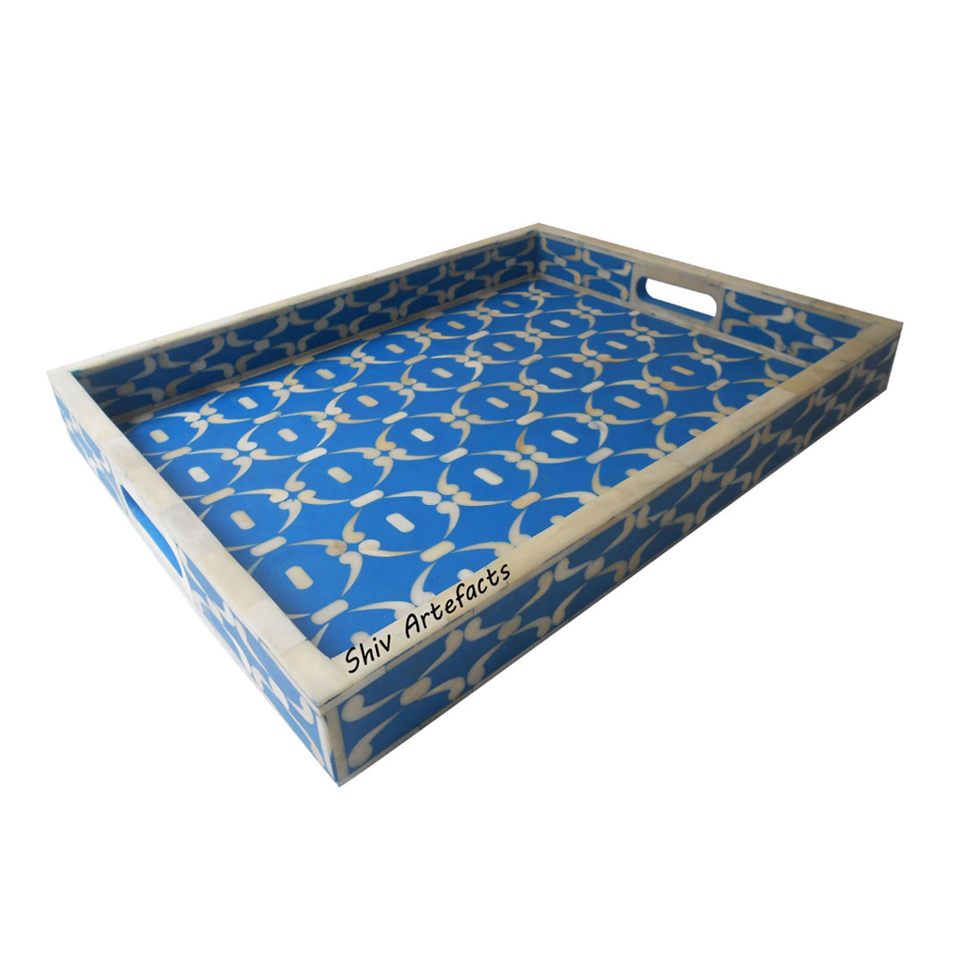 BONE INLAY GEOMETRICAL DESIGN TRAY